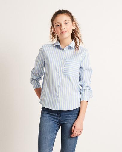 Gestreiftes Hemd aus Viskose